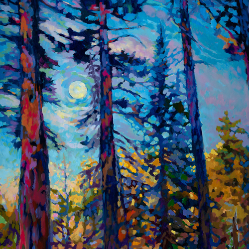 Sivertson Gallery Shop: The Purple Pines notecards