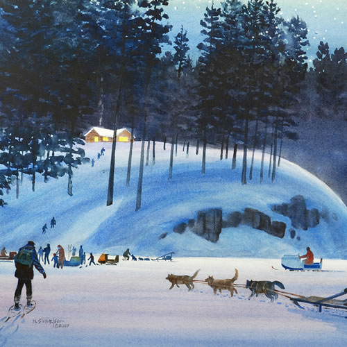 Sivertson Gallery Shop: Imaginary Christmas at Ambroses Otter Track Lake