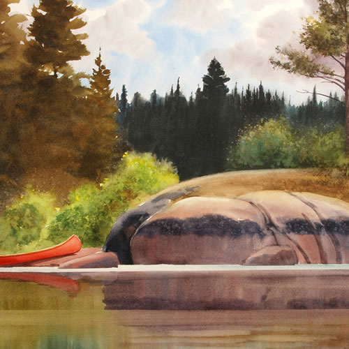 Sivertson Gallery Shop: Red Canoe