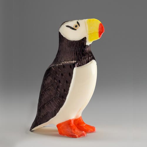 Sivertson Gallery Shop: Standing Puffin by Stanley Oozeva